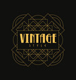 vintage style logo design art deco element in vector image vector image
