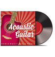 vinyl record with cover mockup typography with vector image