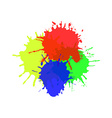Watercolor splats isolated on white background vector image vector image