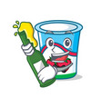 with beer yogurt mascot cartoon style vector image vector image