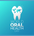 world oral health day logo icon design vector image vector image
