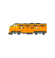 yellow diesel railway great power locomotive vector image vector image