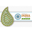 26th january india republic day greeting card vector image vector image