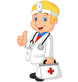 A doctor happy vector image