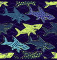 abstract seamless underwater pattern for vector image vector image