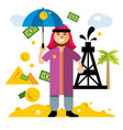 arab petroleum industry saudi oil wealth vector image
