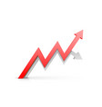 arrow red business growth art info vector image vector image