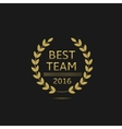 Best team award vector image vector image