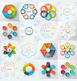 Big set of elements for infographic vector image vector image