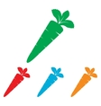 Carrot sign Colorfull set vector image