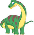 cartoon brontosaurus isolated on white background vector image vector image