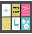 Christmas Greeting Card Collection vector image vector image