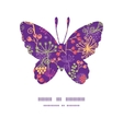 colorful garden plants butterfly silhouette vector image vector image