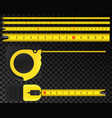 creative of tape measure vector image vector image