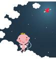 Cupid baby vector image vector image