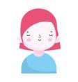 cute little boy character portrait children vector image