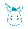 cute mule character icon vector image