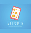 design background bitcoin style collection vector image vector image