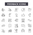 feedback line icons for web and mobile design vector image vector image
