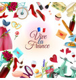 france paris frame background vector image
