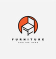 furniture logo designsymbol and icon chair vector image vector image