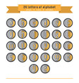 gold - gray letter icon set vector image vector image