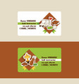 golf business card golfers sportswear and vector image vector image