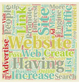 Increase Website Traffic With Links To Your vector image vector image