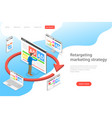 isometric flat concept of retargeting vector image