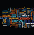 lessons in leadership what not to do from a canoe vector image vector image