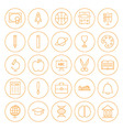 Line Circle Education Icons Set vector image