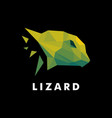 logo lizard low poly style vector image