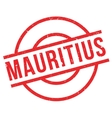Mauritius rubber stamp vector image vector image