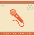 microphone icon symbol vector image vector image