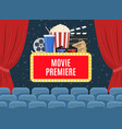 movie premiere poster vector image