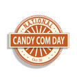 national candy com sign and badge vector image vector image