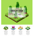 natural landscape design isometric infographics vector image vector image