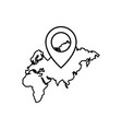 navigation pin pointer icon vector image vector image