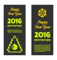New year invitation 2016 vector image