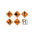 new zealand road signs vector image