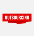 outsourcing vector image vector image