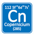 periodic table element copernicium icon vector image vector image