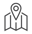 pinpoint on map line icon geolocation vector image vector image