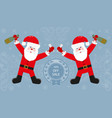 santa claus with a bottle vector image vector image