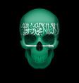 Saudi arabian flag skull vector image vector image