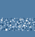 seamless border pattern with white and blue vector image