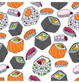 seamless pattern of sushi theme vector image