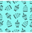 Seamless pattern with birdcages vector image vector image