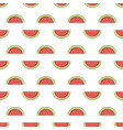 seamless watermelon pattern vector image