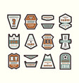 set emblems and patches in sport style vector image